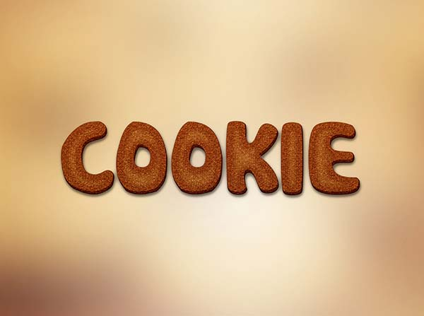 COOKIE TEXT EFFECT