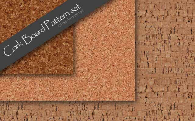 Photoshop Cork Board Pattern set