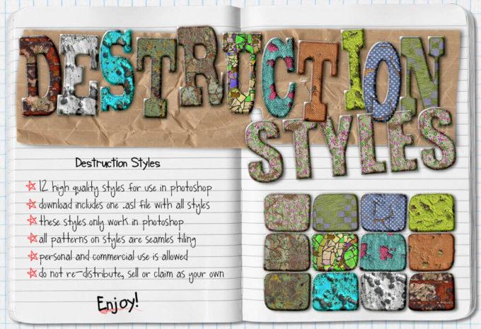 Destruction Photoshop Styles