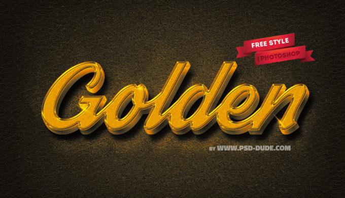 Elegant Gold Photoshop Free Style
