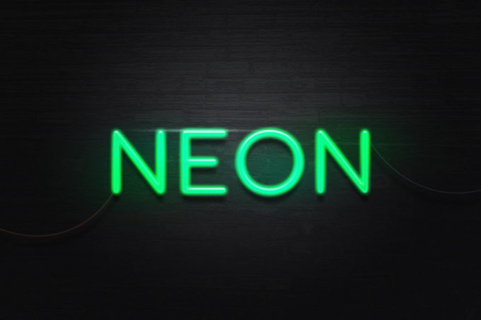 Neon Text Effect Free PSD