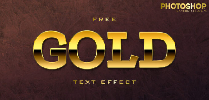 Free Gold Text Effect 5