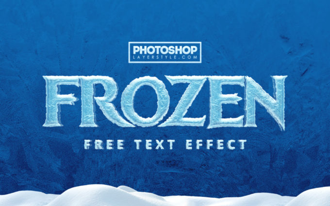FROZEN Text Effect
