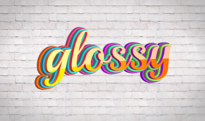 Glossy-Text-Style