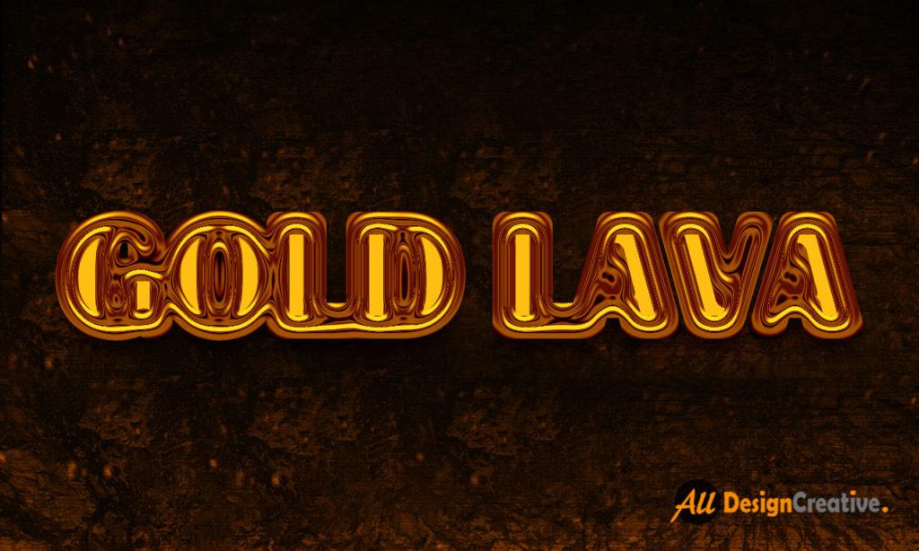 Gold Lava Text Effect PSD