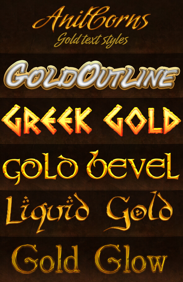 Gold Styles Pack