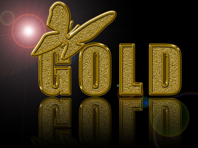 Photoshop Layer Style Free asl フォトショップ レイヤースタイル 無料 素材 Gold style