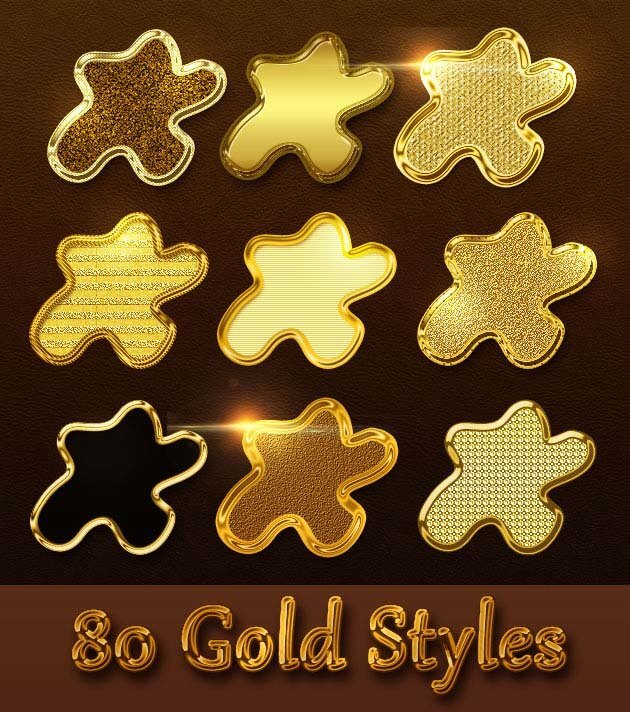 Gold Styles For Photoshop