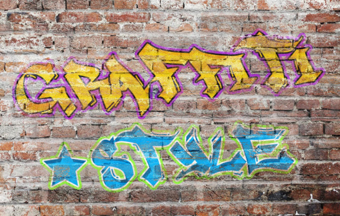 Graffiti Photoshop Text Style