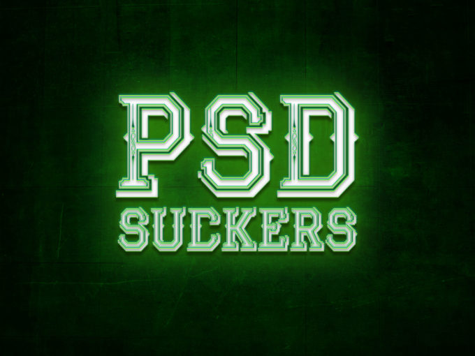Green and Blue Neon Text Effect