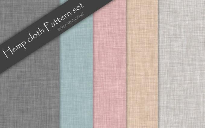 Photoshop Hemp cloth Pattern set