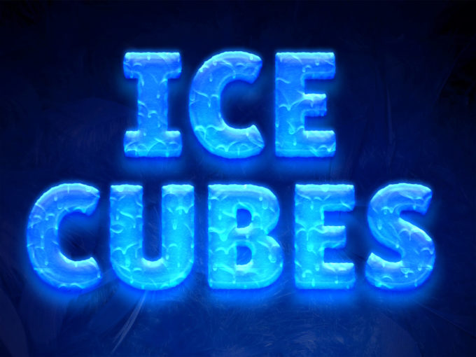 Ice Cubes Text Style