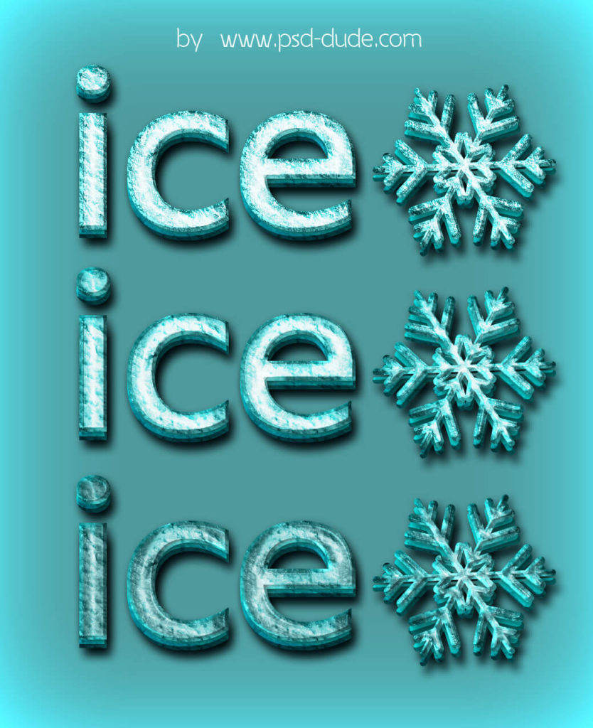 Frozen Ice Photoshop Styles