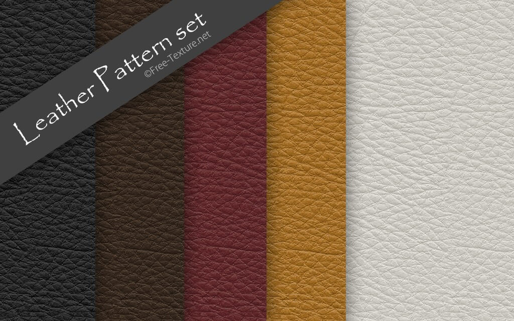 Photoshop Leather Pattern set