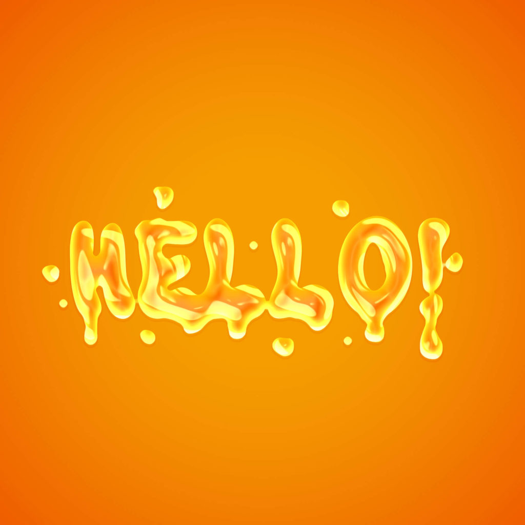 Free Liquid Text Effect Mockup