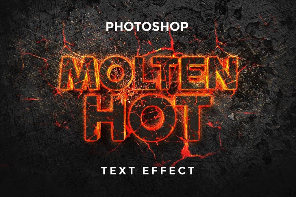 Molten Text Effect