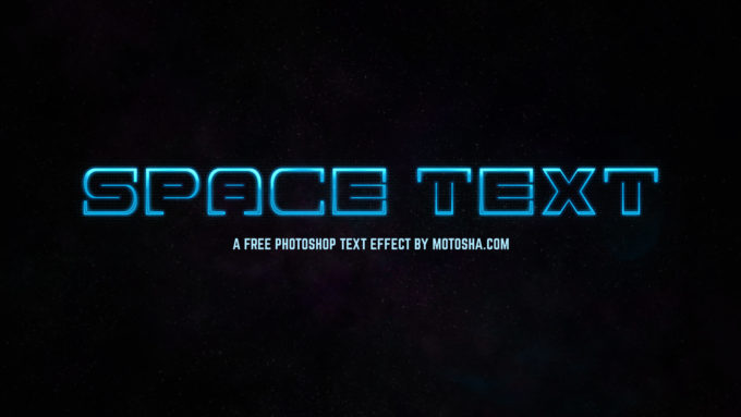 Photoshop Space Text Effect