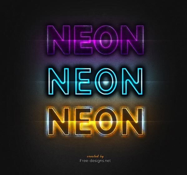 Photoshop Neon Text Effects