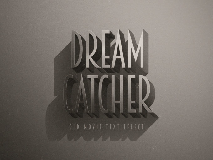 noir retro Photoshop text effects