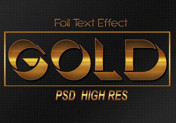 フォトショップ テキスト エフェクト 無料  無料 Photoshop Gold Text Effect Free psd