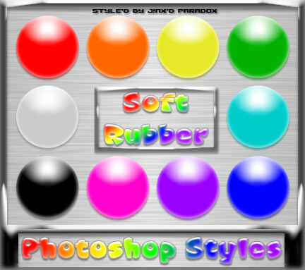 Photoshop Styles - Soft Rubber