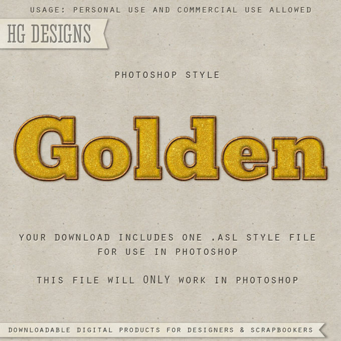 PS Style: GOLDEN