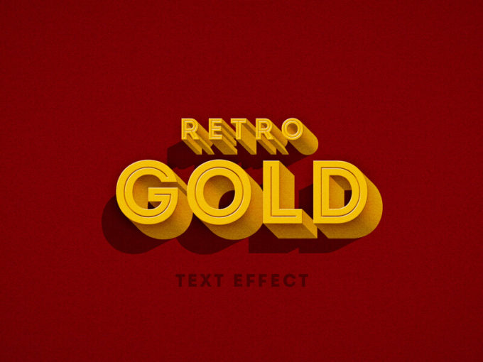 Retro 3D Text Effect
