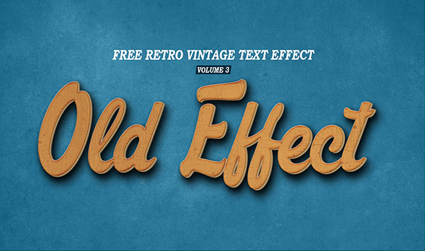 Vintage Retro Text Effect Volume 3