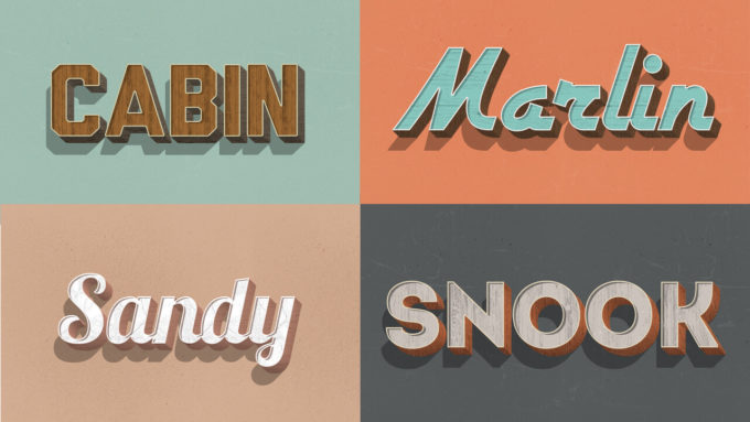 Retro Wood Text Styles