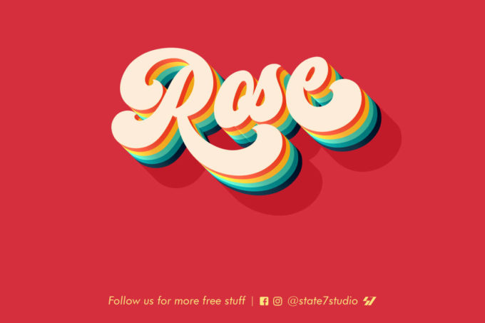 ROSE FREE TEXT EFFECT