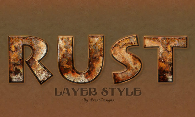 Rust Text Style PSD