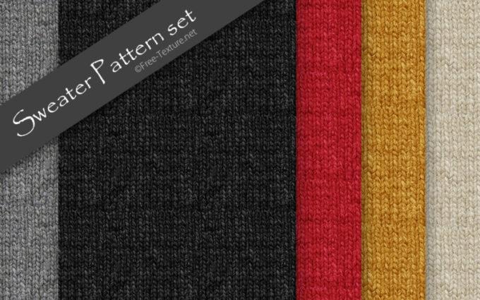 Photoshop Sweater Pattern set