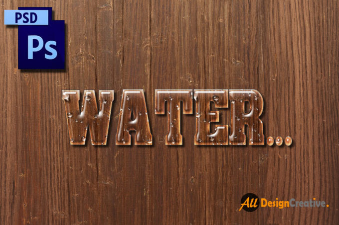 Water Text PSD