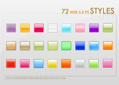 Photoshop Layer Style Free asl フォトショップ レイヤースタイル 無料 素材 おすすめ Web 2.0 Styles