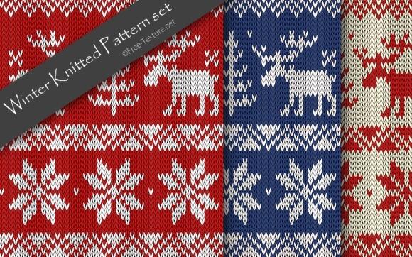 Winter Knitted Pattern set