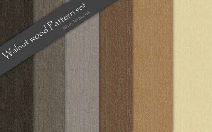 Photoshop Walnut wood Pattern set