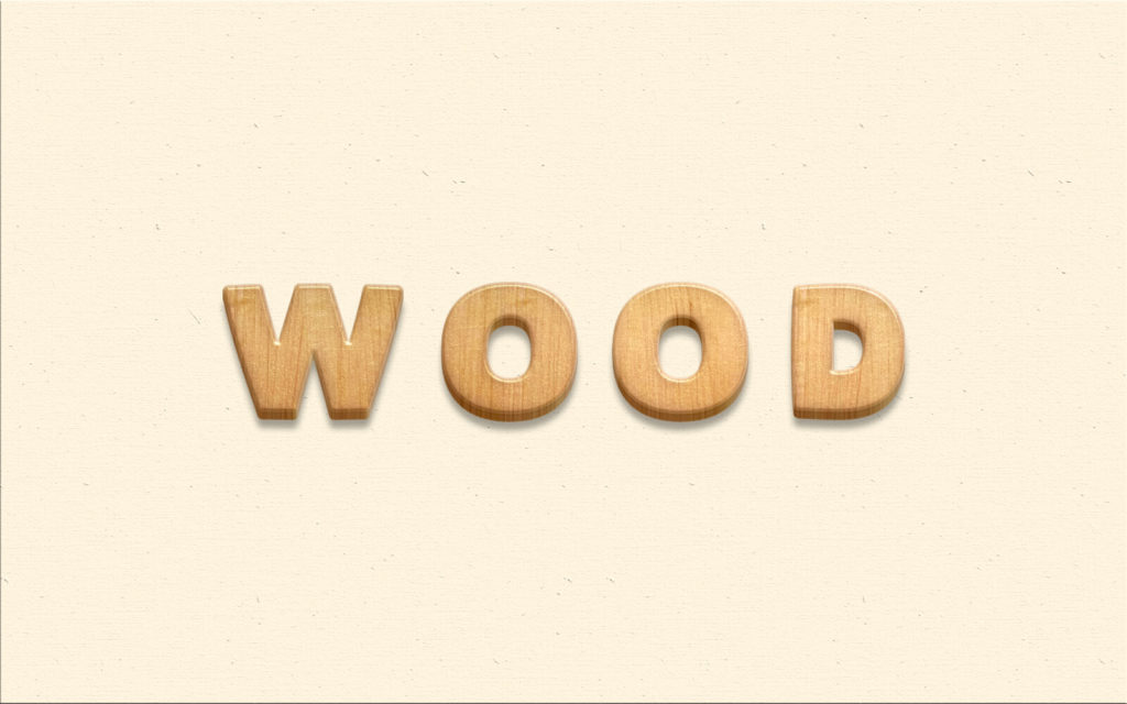 Wood Psd Text Effect