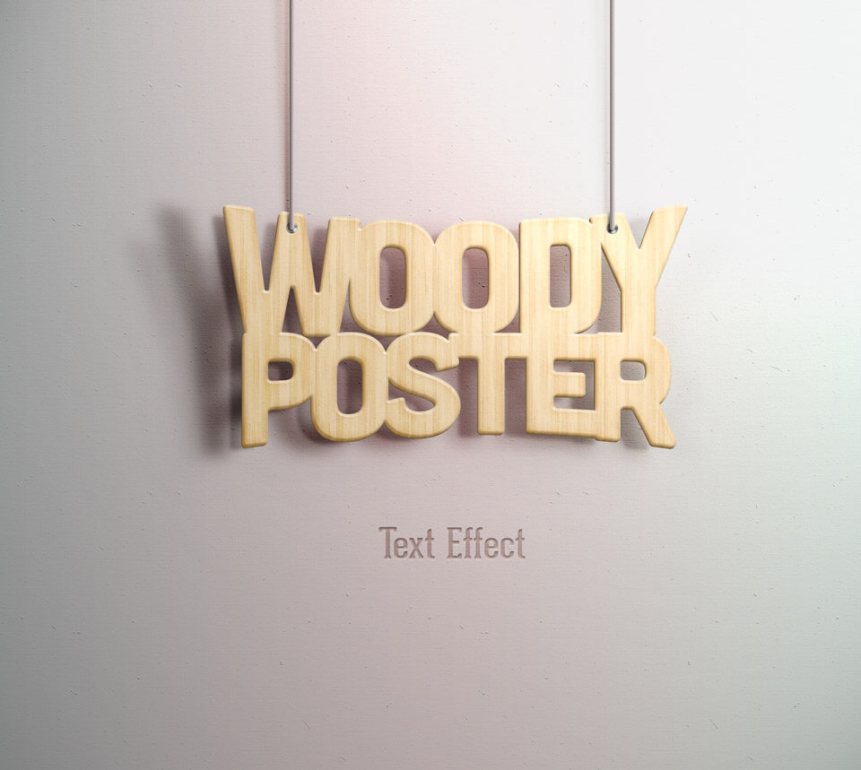 Woody Poster Text effect