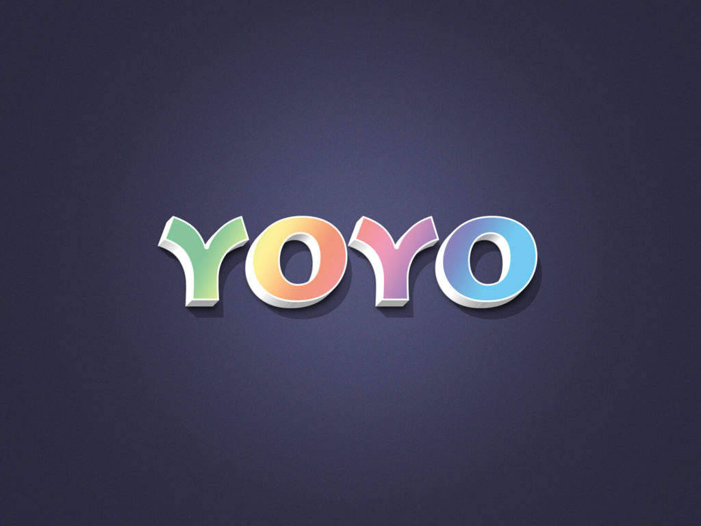 YOYO 3D Text Effect
