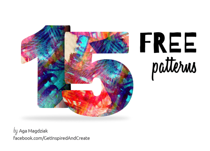 15 Free Hand Painted Colourful Patterns