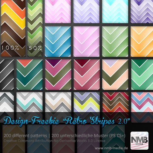200 Retro Stripe Pattern PS CS+ (uni-/multicolor)