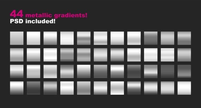 Photoshop Gradation Free grd フォトショップ グラデーション 無料 素材 44 Metallic Gradients