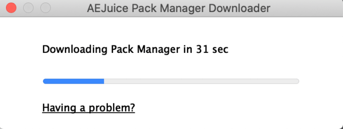 『AE Juice Pack Manager』をインストール