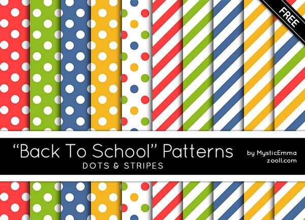 BACK TO SCHOOL DOTS&STRIPES PATTERNS