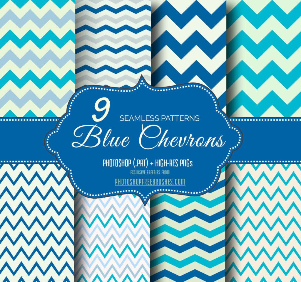 Blue Chevron Seamless Background Patterns