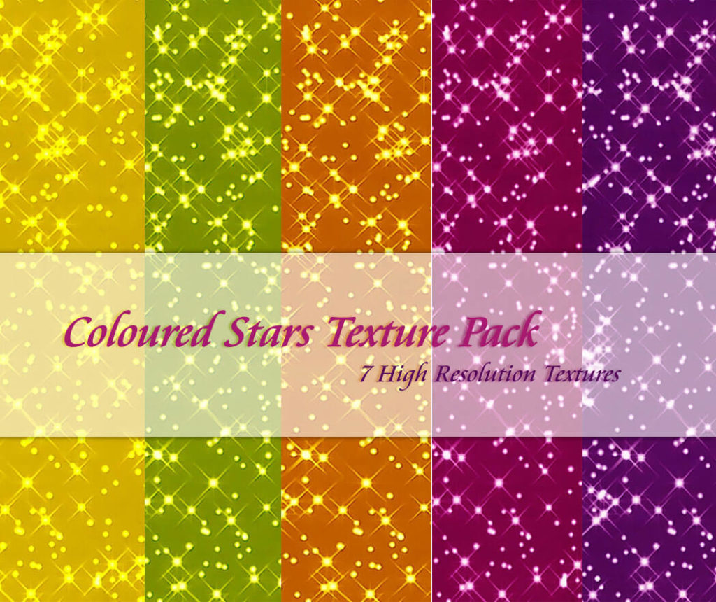 Coloured Stars Texture Pack2
