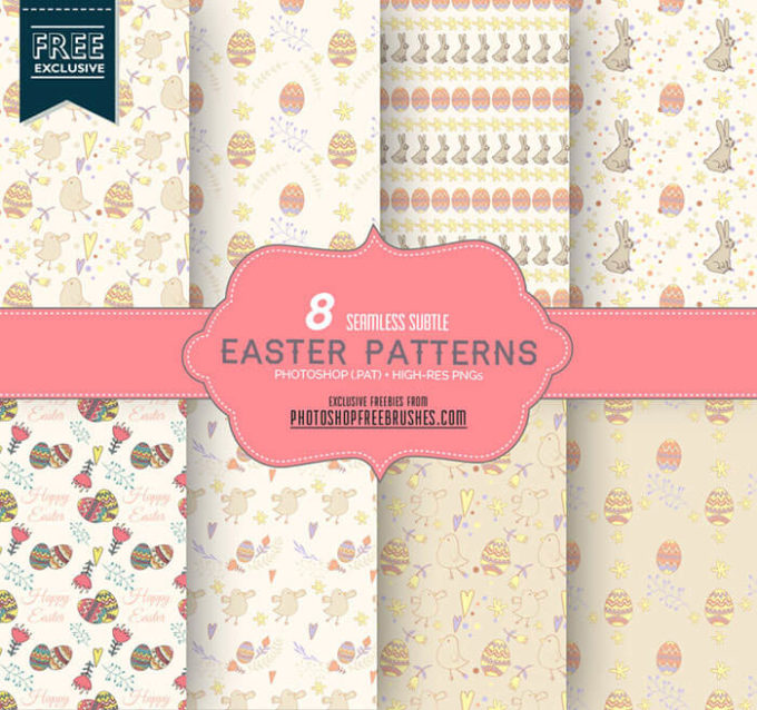 8 Cute Pastel Patterns for Spring and Easter