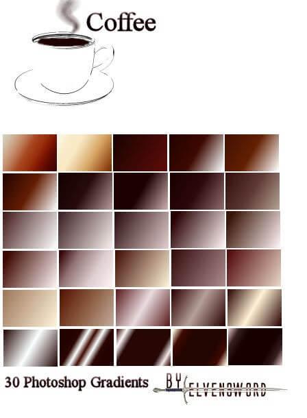Adobe CC Photoshop Vintage Gradation Free grd フォトショップ ビンテージ グラデーション 無料 素材 Coffe Ps Gradients