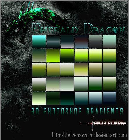 Photoshop Green Gradation Free grd フォトショップ グリーン グラデーション 無料 素材 Emerald Dragon Ps Gradients