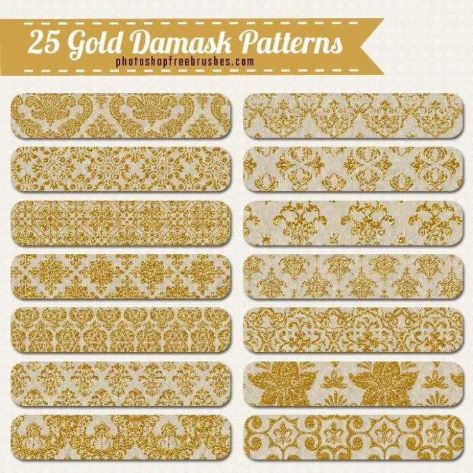 25 Gold Damask Patterns and Backgrounds